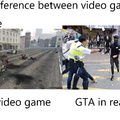 The difference between video game and real life