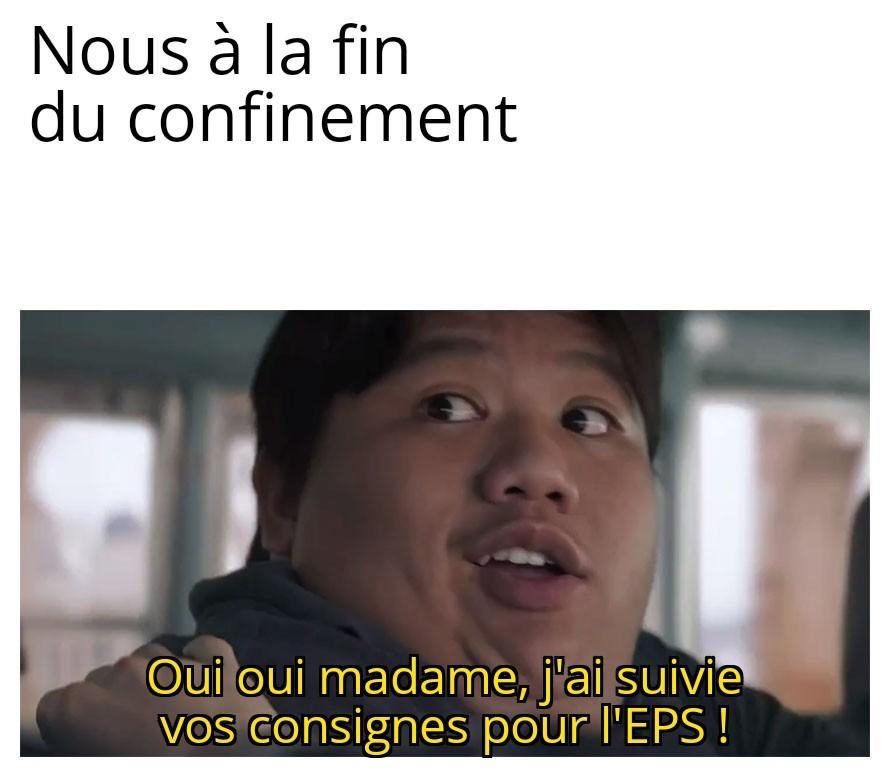 Après le confinement - Profs d'EPS vs Élèves - meme