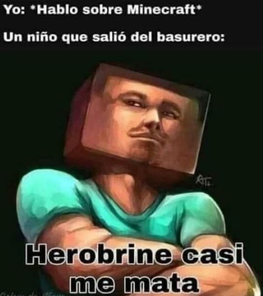 Yo: hablo de minecraft - meme