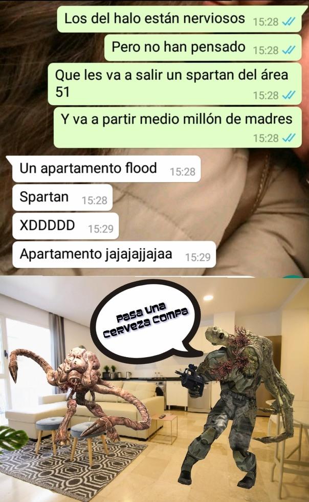 A mi amigo le gusta mucho el halo verde - meme