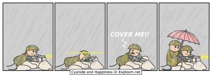 Cover Me - meme