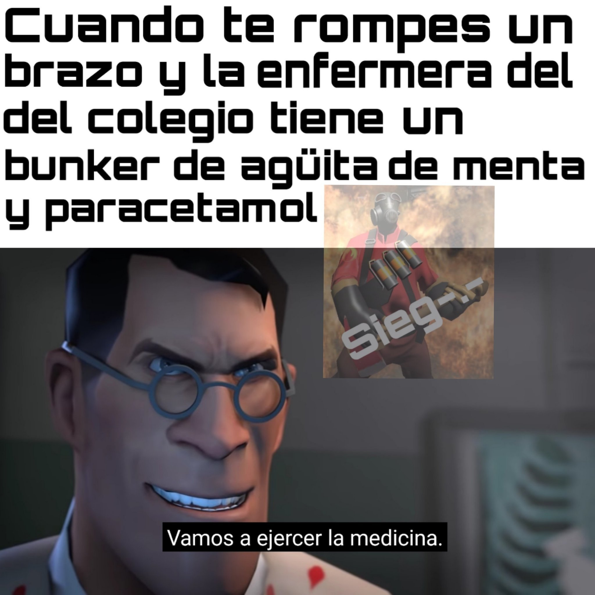 Meet the medic en otro estilo - meme