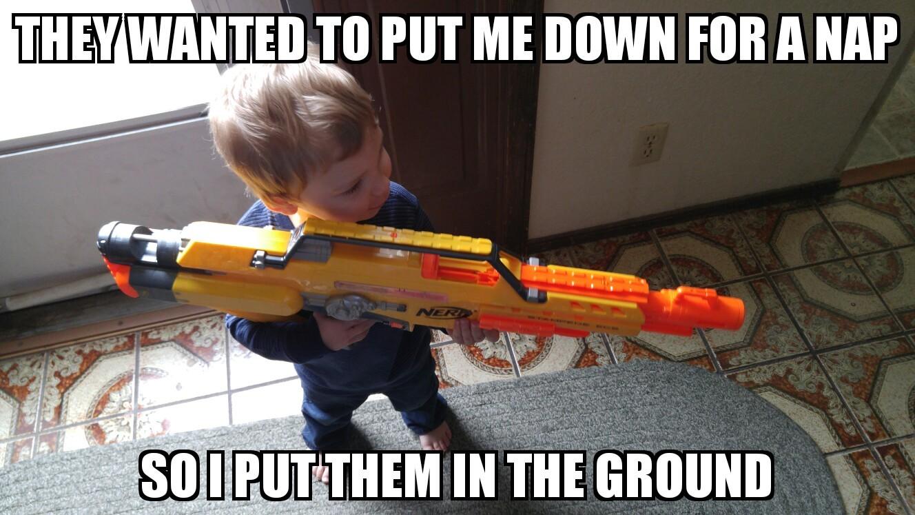 Intolerable toddler - meme