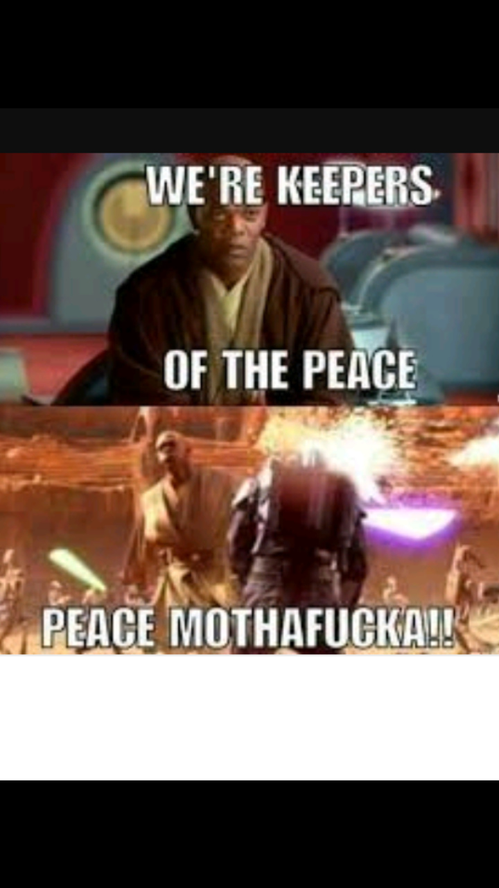 Samuel l. Jackson was the best jedi - meme