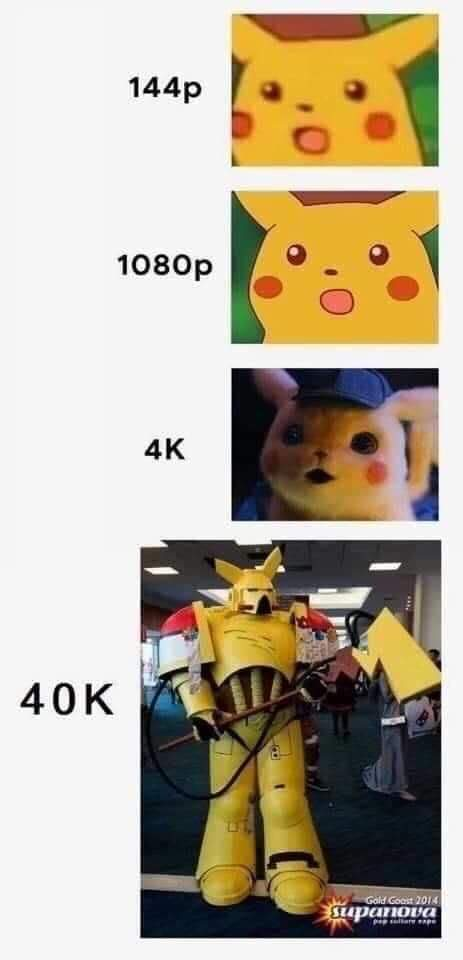 Space Pikachu go hunt heretics - meme