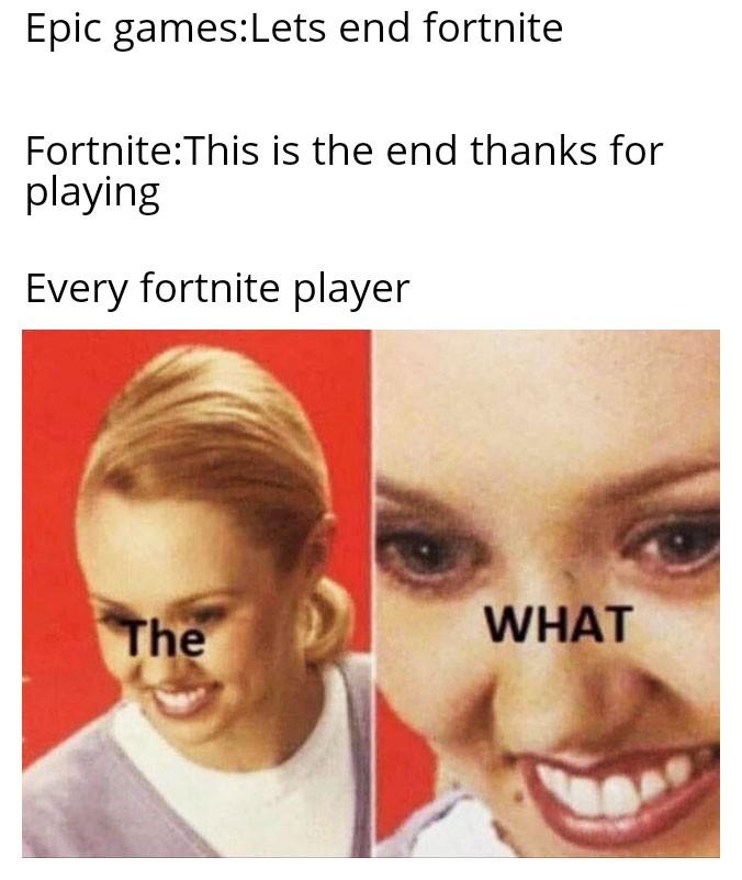 Fortnite: The end - meme