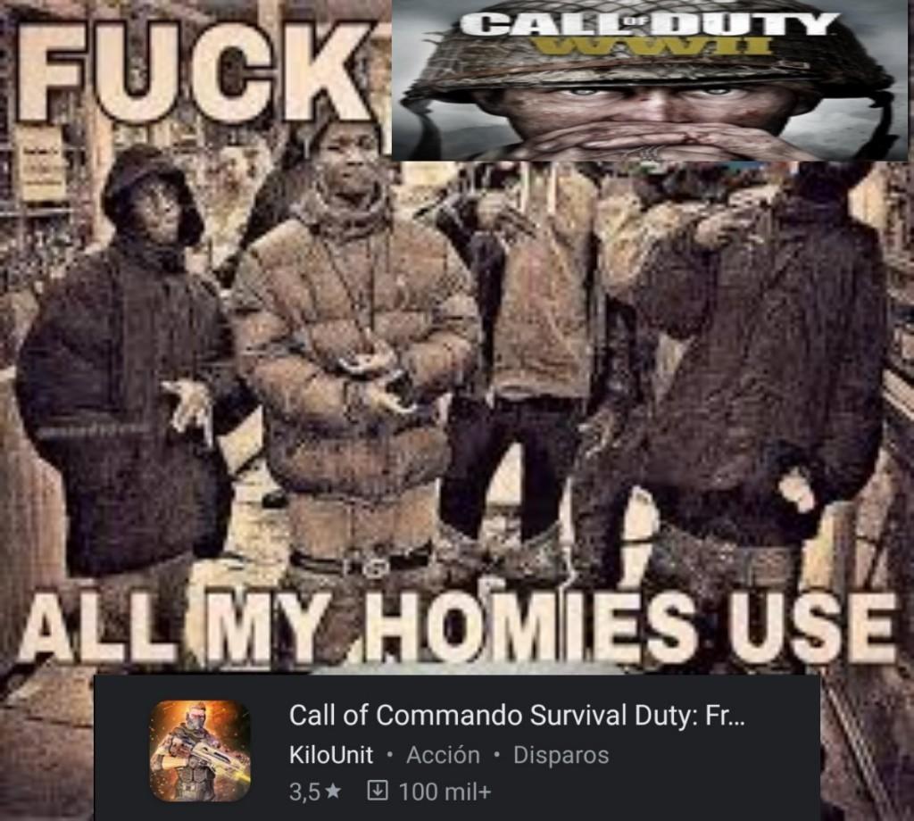 Call Of Comando Survival - meme
