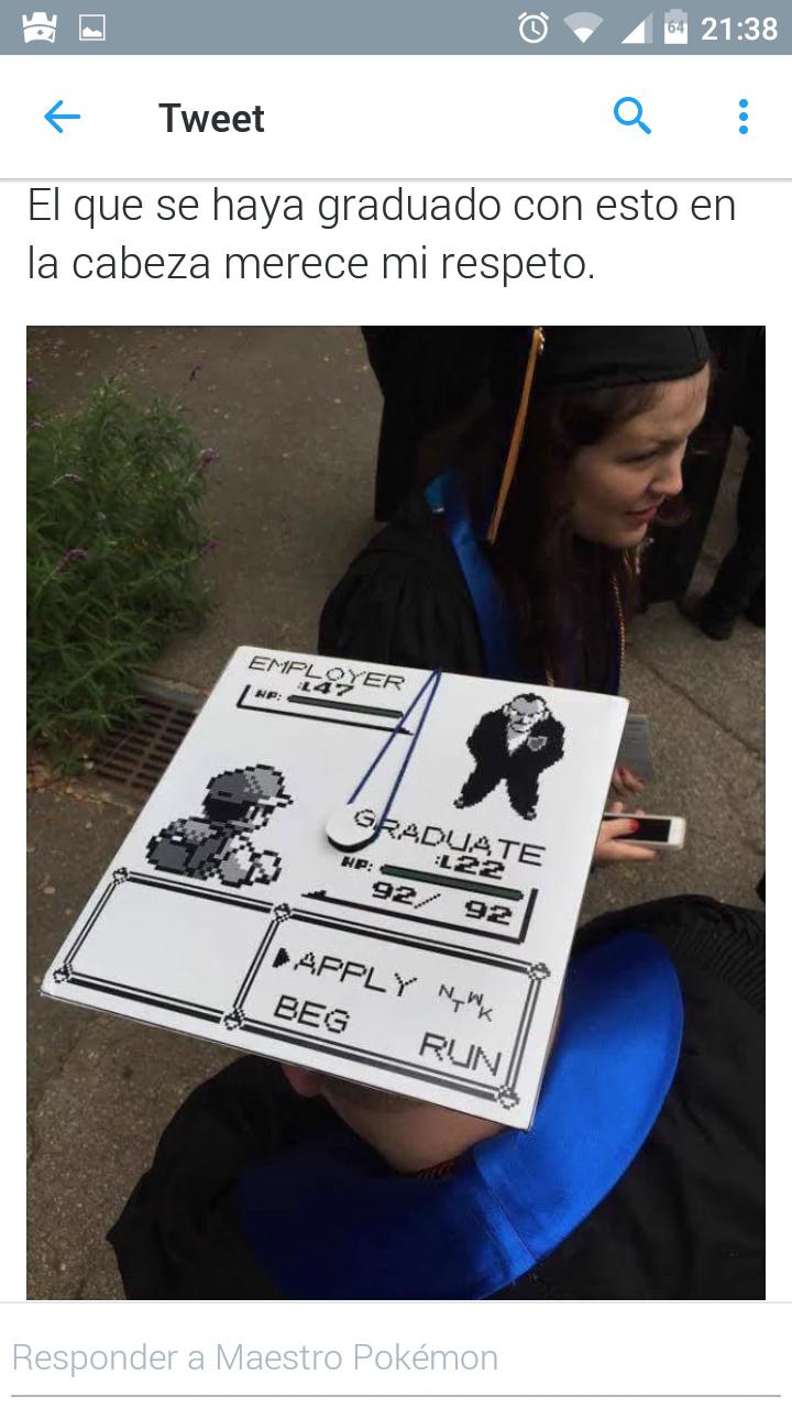 Gorro de graduación épico - meme