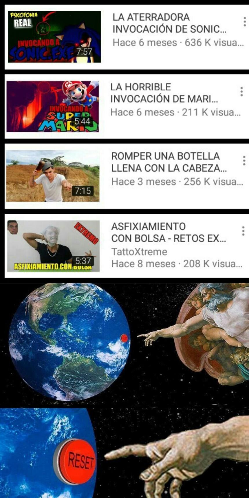Youtube reset pls :´v - meme