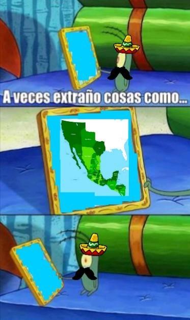 Es hora de aprender historia: México en su mayor extensión durante el primer imperio - meme