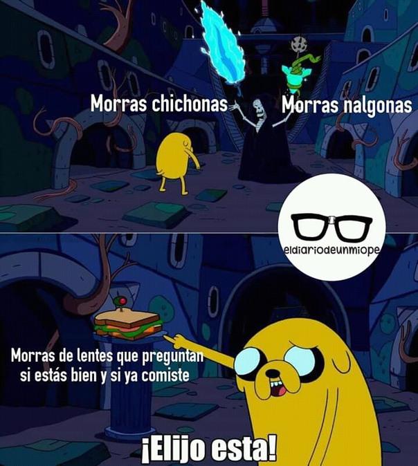 Morras de lentes - meme