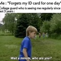 Never forget your ID