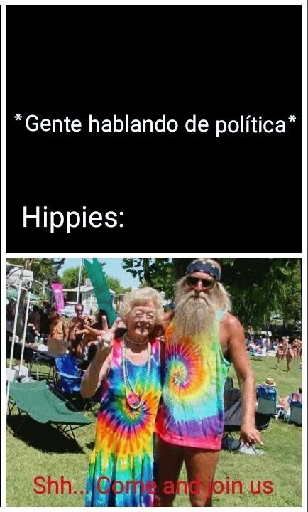 ¿Qué tipo de deficiencia mental tienen los hippies? - meme