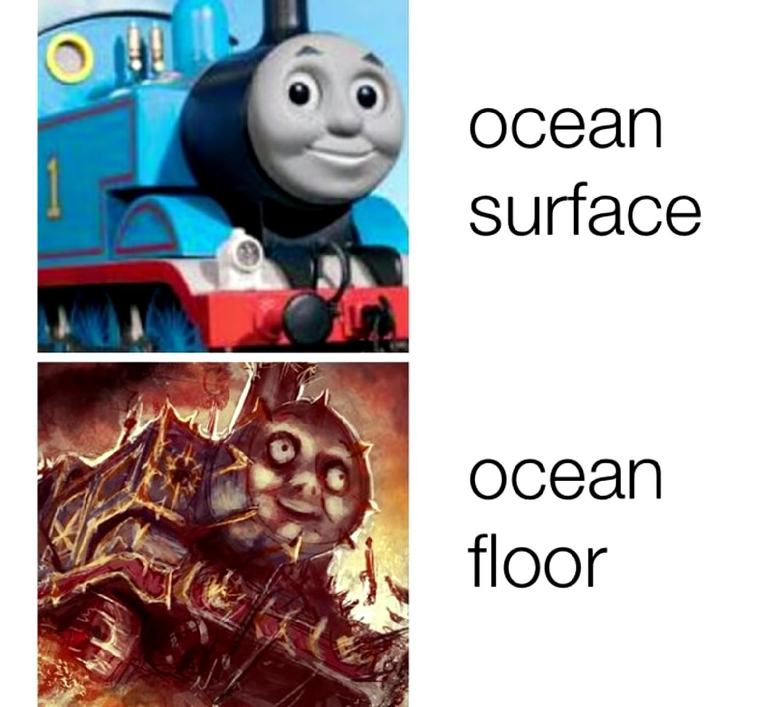 When that fucking seaweed brushes my leg - meme