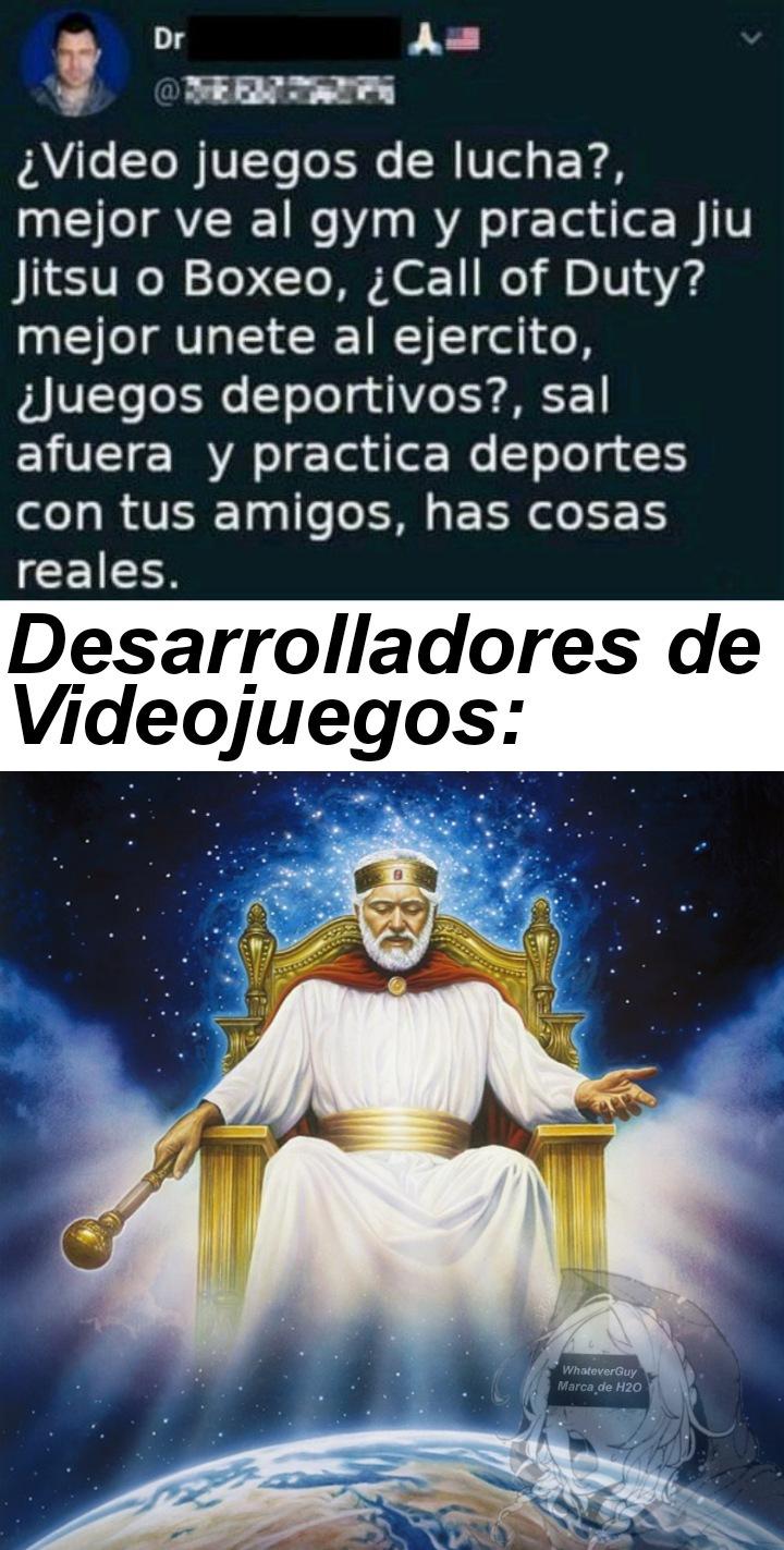 Viva Desarrollador de Videojuegos Rey - meme