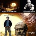 Plato was insane