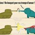Parfois, l'amour est moins fort qu'un canon de tank à bout portant.