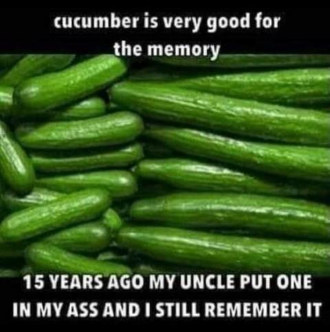Les concombres sont bon pour la mémoire - meme