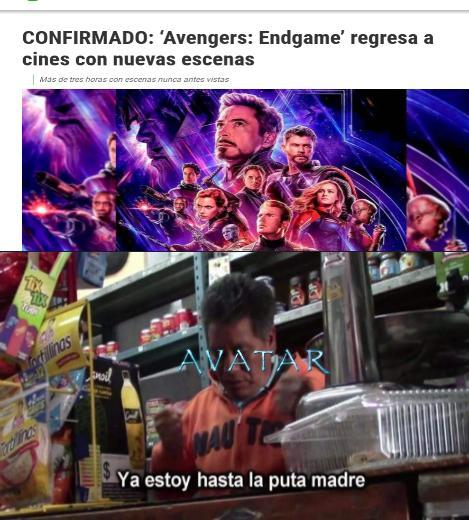 Sobre exploto mucho avengers xd - meme