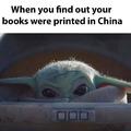 Baby Yoda wants clean books