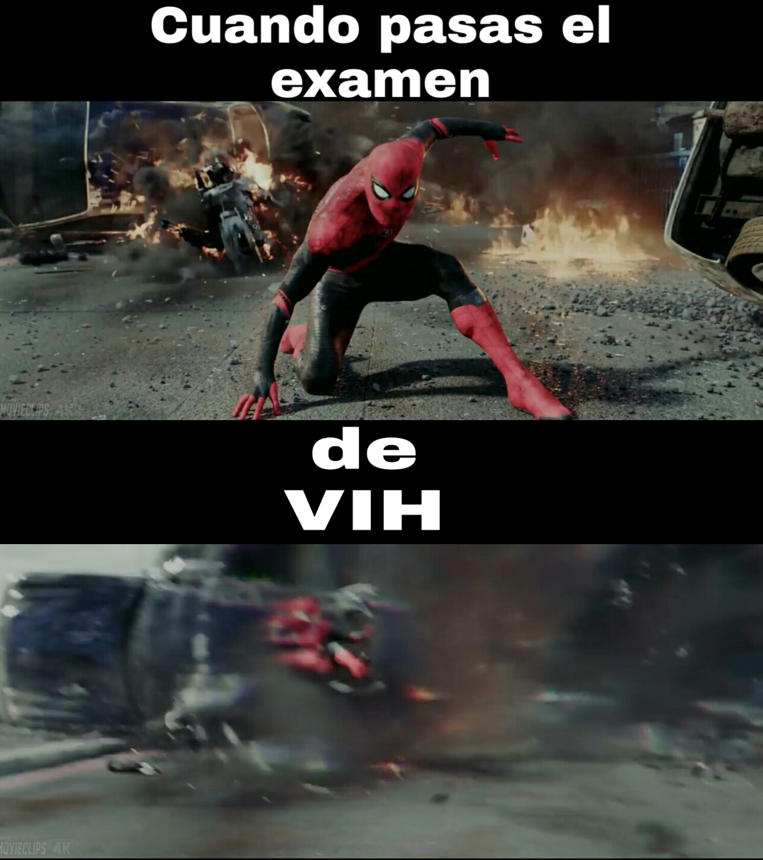 Nooo spiderman eso no es de cracks - meme