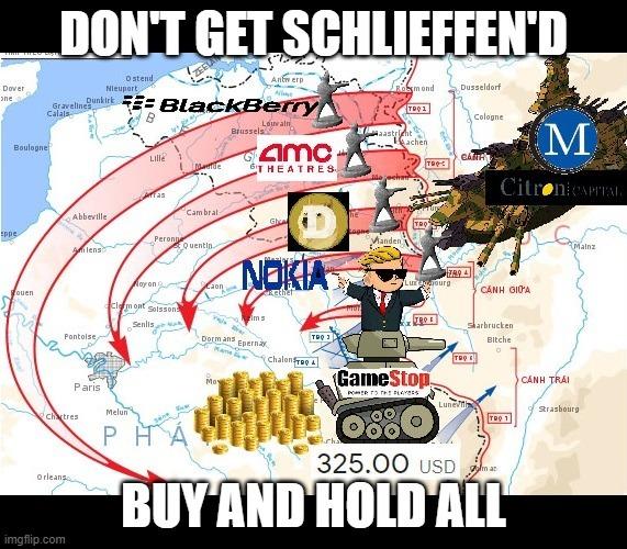 Don't get Schliefffen'd - HOLD THE LINE - meme