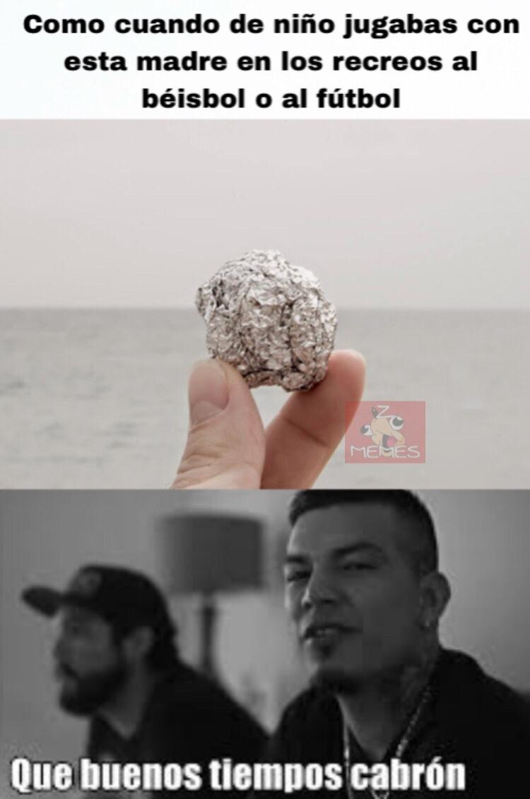 (peloticas de aluminio hechas con los envoltorios de los desayunos) - meme
