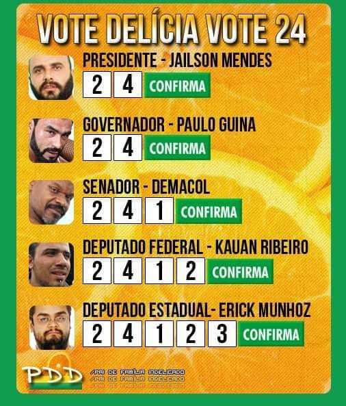 Vote nos candidatos da coligação oco nesse rabo ( ͡° ͜ʖ ͡°) - meme