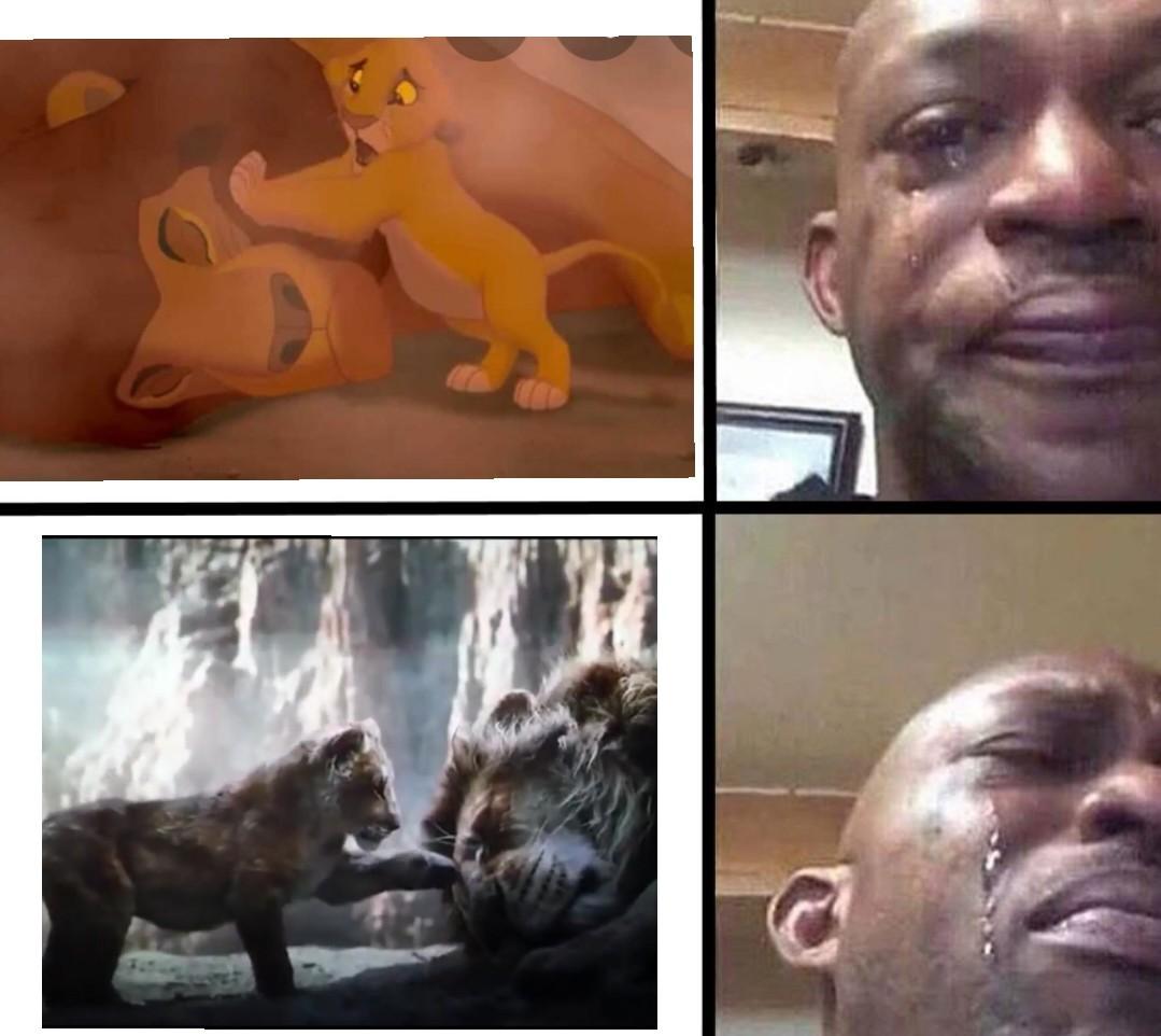 La morte di Mufasa nel film è peggio che nel cartone - meme