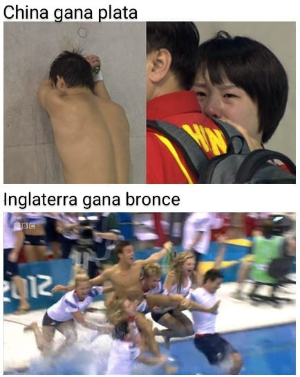 Plata= casi lo logro oro /bronce= logre ganar - meme