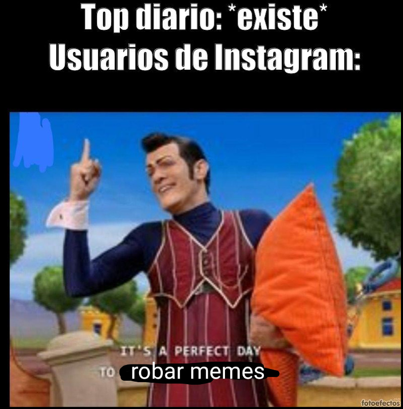 Re fachero el Robbie Rotten - meme