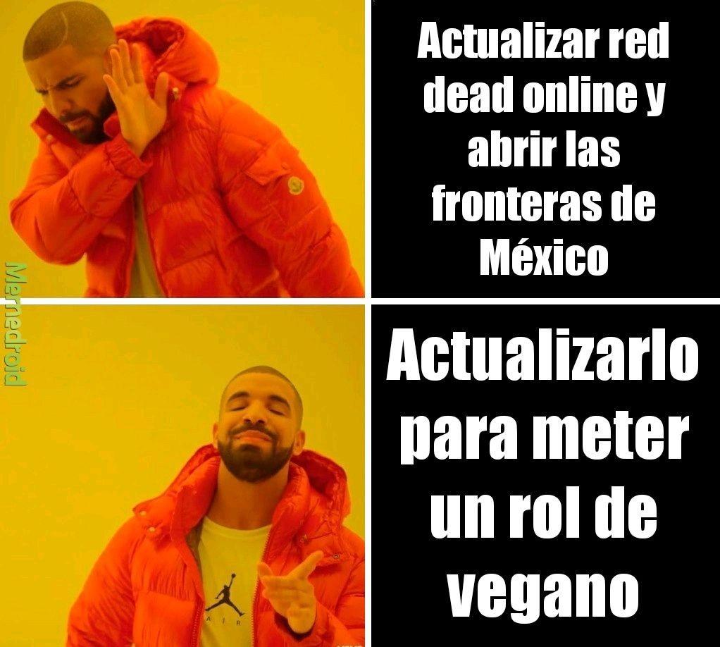 Actualizacion de red dead - meme