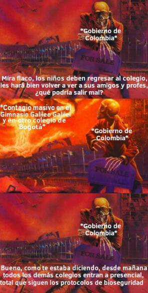 Plantilla muerta, pero ya saben que Colombia siempre decide idioteces - meme