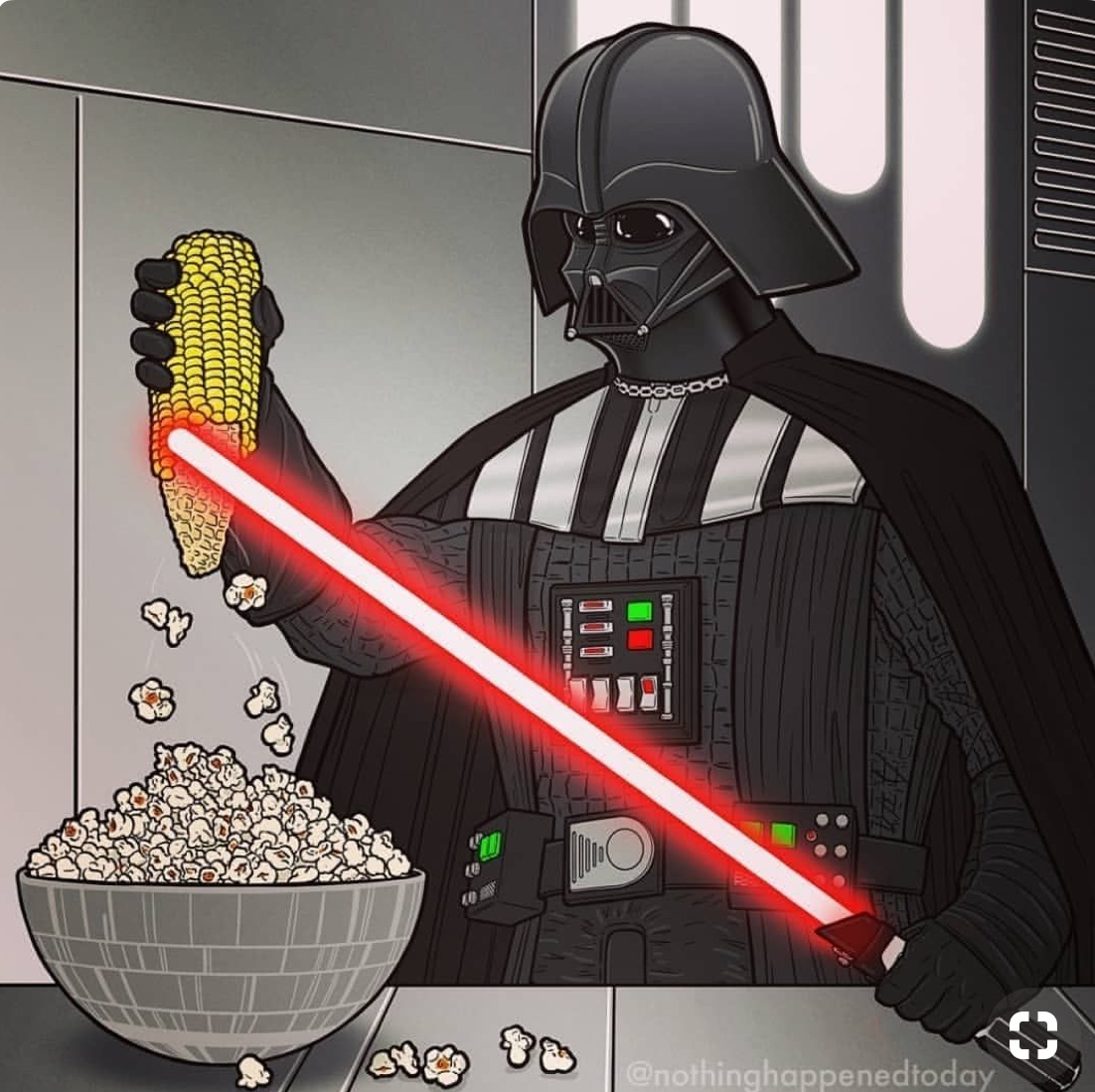 Job after the Death Star blew up - meme