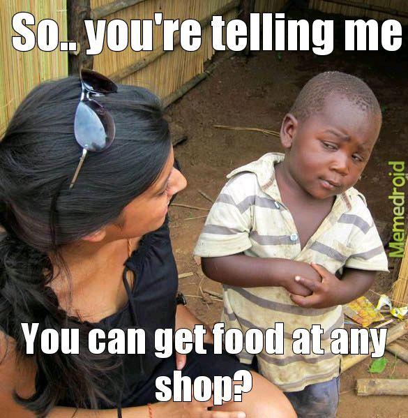 Food dreams - meme