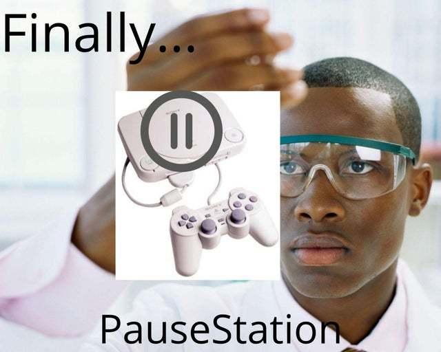 Finally pause station - meme