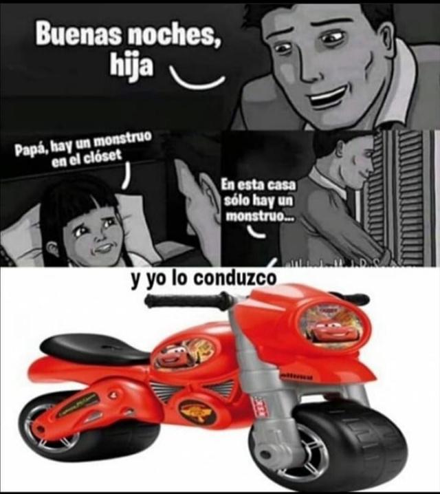 Por que el rayo maquin tendria una moto? - meme