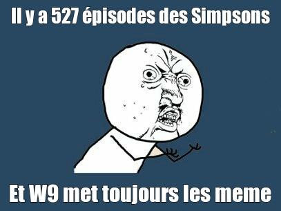 Les simpson sur W9 - meme
