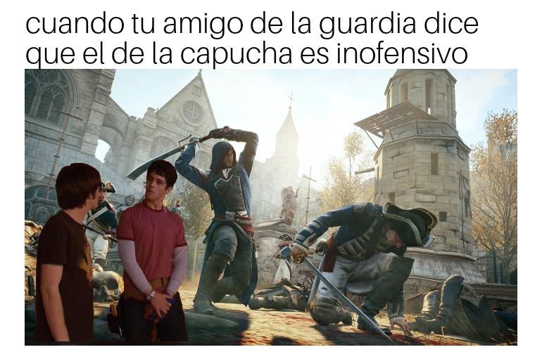 Guardias pendejos - meme
