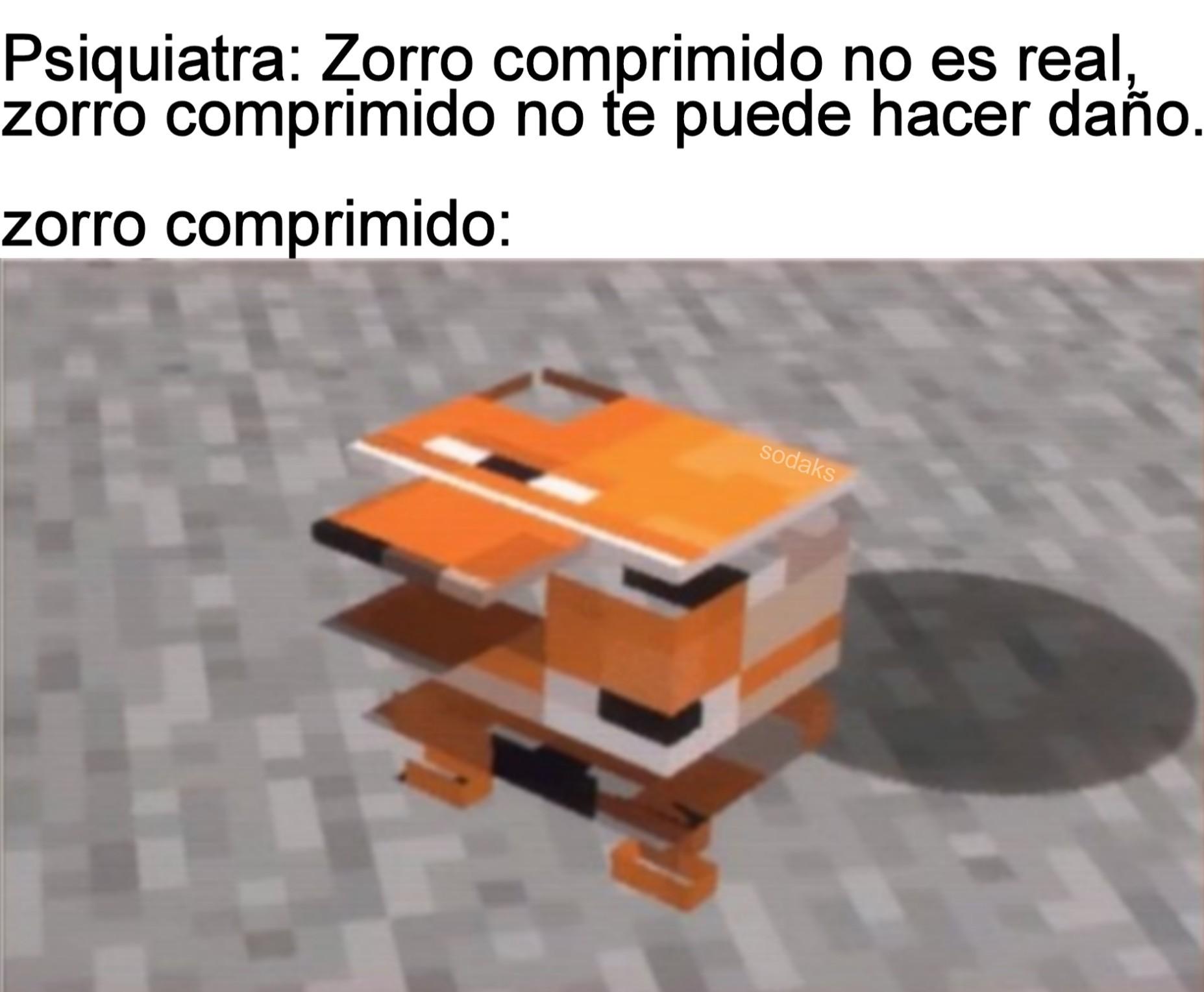 ZORRO MINECRAFT COMPRIMIDO - meme