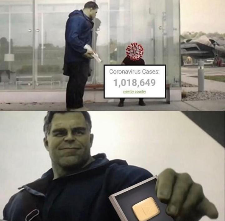 Gold play button - meme