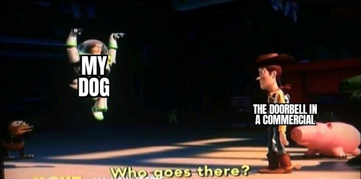 He is spooked - meme