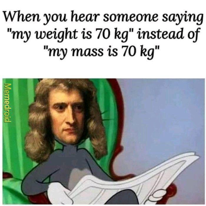 Newton's Gravity - meme
