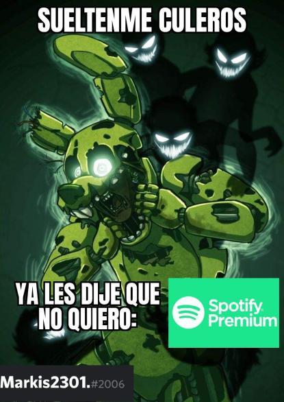 Gracias por escuchar spotify :> - meme