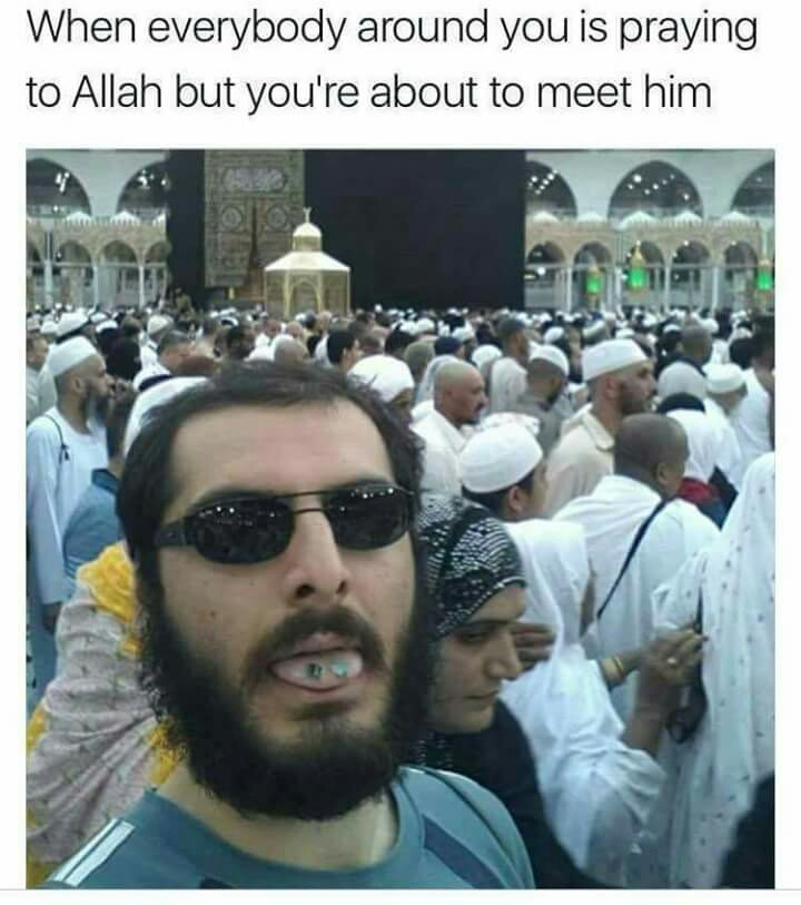 Trip through mecca - meme