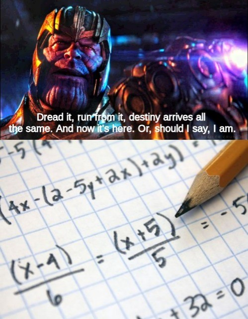 I hate math - meme