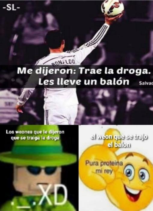 Desde cuando un balon es considerada droga - meme