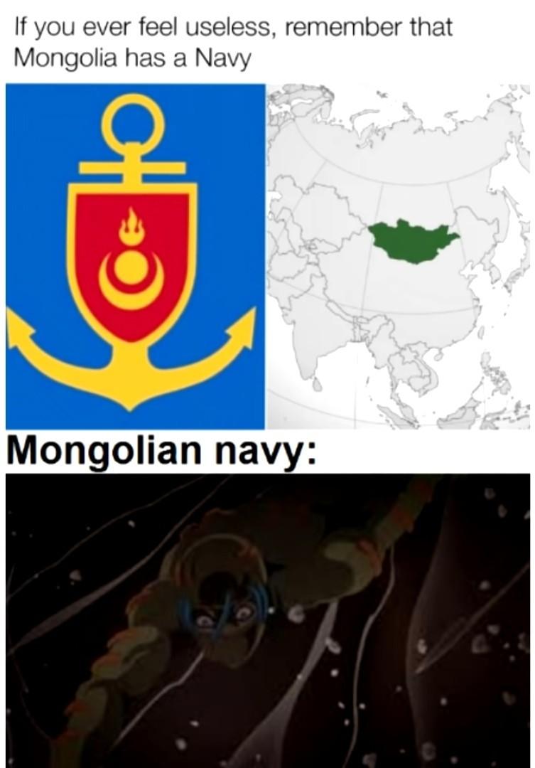 Mongolian navy - meme