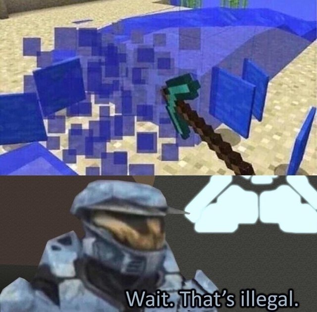 Espera isso é ilegal... - meme