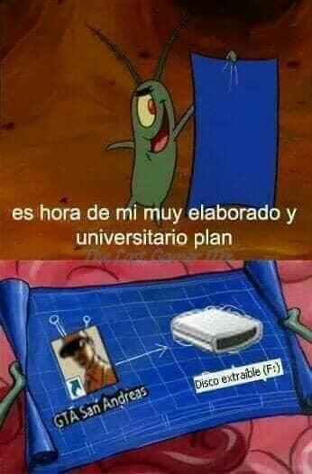 el inocente plan :') - meme